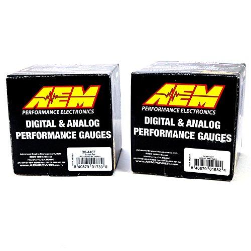 AEM 52mm Digital 2 Gauge Kit Oil Pressure 150psi & Turbo Boost -30-50 psi