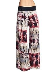 Frumos Womens Tie Dye Palazzo Pants