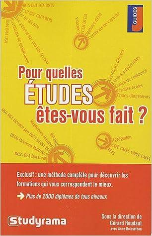 Livres audio gratuits à télécharger sur ordinateur Pour quelles études êtes-vous fait ? 2844725309 en français iBook