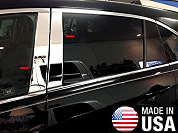 Works with 2013-2015 Chevrolet Malibu 4PC Stainless Steel Chrome Pillar Post Trim Made in USA