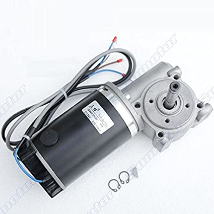 DC Geared Motor 24V 60W Speed Reduction Motor Permanent Magnet Electric Motor High Torsion Adjustable Speed Metal Geared Motor 5, 640RPM