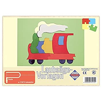 Matches21 Lokomotive Holz Laubsägevorlage Din A4 Puzzle Holzvorlage