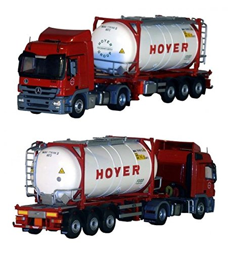 Tekno - MB Actros MP3 mit Tankcontainer 1 50 (Hoyer)