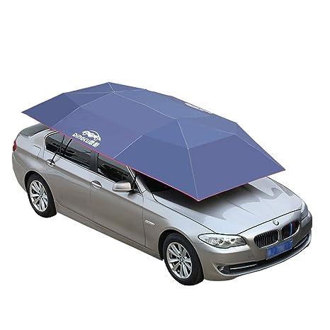 YIFNJCG Parasol del Coche Semiautomático Protección Solar Plegable Paraguas Ropa Cubierta del Coche Cobertizo Capucha móvil