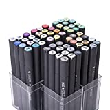 MEEDEN 60 Pcs Art Sketch Markers Double Ended Drawing Mark Pen Set