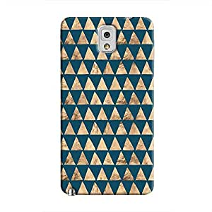 Cover It Up - Brown Navy Triangle Tile Galaxy Note 3 Hard Case