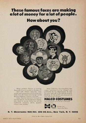 1971 Ad Halloween Costumes Halco Beverly Hillbillies - Original Print Ad