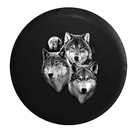 wolf jeep wheel cover - 9