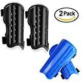 Youth Child Soccer Shin Pad, 2 Pair Soccer Shin Guards Perforated Breathable Leg Protective Gear Protector Board Perfect Fit for 5-12 Years Teenagers, Old Kids, Boys, Girls Football Games