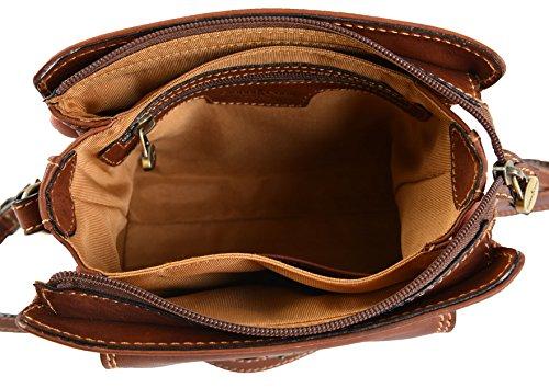 Italian Fine Gianni 913179 Shoulder Crossbody Tan Handbag Leather Conti Small gZ414AW