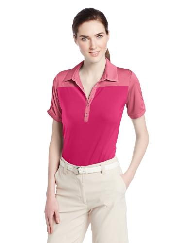 adidas Golf Women's Puremotion Microstripe Block Polo Shirt