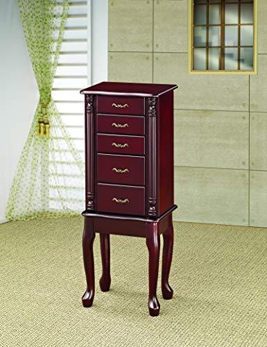 Coaster Home Furnishings 4-drawer Jewelry Armoire Merlot