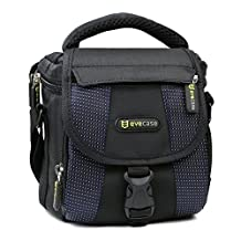Evecase Camera Carrying Pouch Case with Strap for Canon PowerShot SX530 HS, SX60 HS, SX520 HS, SX400 IS, SX520 HS, SX170 IS, SX510 HS, SX50 HS, SX160 IS, SX500 IS, HF R32, HF R30, G1 X Mark II, G1 X, SX150 IS, SX30 IS, SX130 IS, T3i, T2i