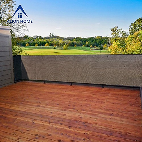 """Alion Home Elegant Privacy Screen Mesh for Backyard, Deck, Patio, Balcony, Pool, Fence. (40"""" x 20′, Mocha Brown) For Sale"""