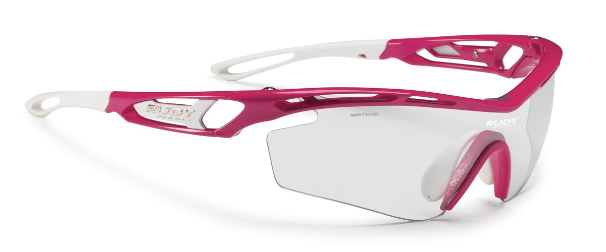 6d7efe15b52 Amazon.com  Rudy Project Tralyx Sx Rubin Gloss With Impactx-2 Photochromic  Clear To Laser Black Lenses  Sports   Outdoors