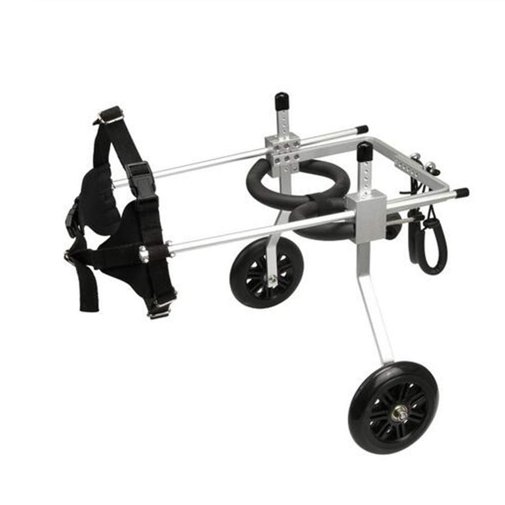 2 Wheel 5'' Pet Dog Cat Wheelchair Aluminium XS Model Walk Cart Scooter for Handicapped Hind Leg can Adjusted Pet Weight 3-15kg