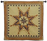 Autumn Star Wall Hanging Quilt 44 Inches by 44 Inches 100% Cotton Handmade Hand Quilted Heirloom Quality