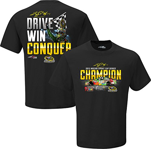 NASCAR #18 Kyle Busch Championship Conquer M&M Racing Black T-Shirt (Large)