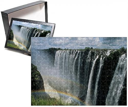 Photo Jigsaw Puzzle of Waterfalls and rainbows, Victoria Falls, UNESCO World Heritage Site, - Waterfall Rainbow
