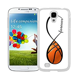 Pop Samsung Galaxy S4 Case Silicone Soft White Phone Cover Basketball Forever Basketball Infinity Forever
