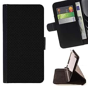 BullDog Case - FOR/HTC One M8 / - / Black metal texture /- Monedero de cuero de la PU Llevar cubierta de la caja con el ID Credit Card Slots Flip funda de cuer