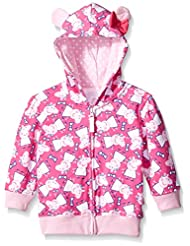 Peppa Pig Little Girls' Zip Through All Over Hoody