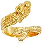 Alex and Ani Ring Wrap, Mermaid, 14k Gold Plated Stackable Ring, Size 5-7