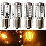 1156a led bulb amber - KATUR 4pcs 1156 BA15S 1141 7056 5630 33-SMD Amber 900 Lumens 8000K Super Bright LED Turn Tail Brake Stop Signal Light Lamp Bulb 12V 3.6W