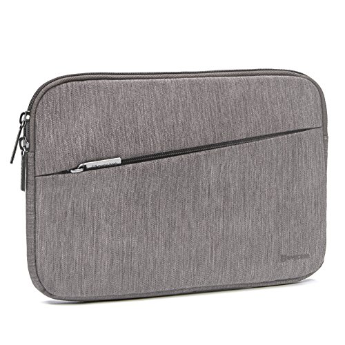 iPad Mini 4 Sleeve, Evecase Water Repellent Shockproof Portable Carrying Protective Case Bag with Accessory Pocket for iPad Mini 4, 3, 2 / Android 7-8 inch Tablet Device - Warm Gray