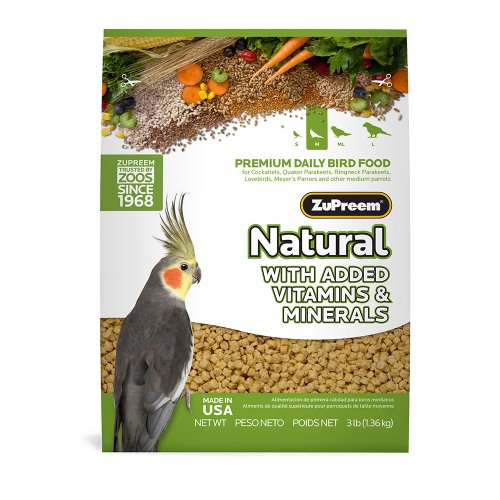 Zupreem Avianmaintenance Natural Bird Diet for Cockatiels, My Pet Supplies