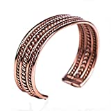 """TSKIES Navajo Twisted Rope Wire Copper Cuff Bracelet Handmade Native American Jewelry for a 6"""" Wrist"""