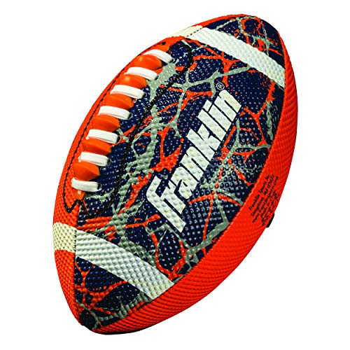 Football Navy Kids - Franklin Sports Mini Football - Tacky Grip Cover - Easy Throw Spiral Lace System - Little Kids Indoor/Outdoor Football - Orange/Navy