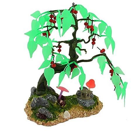 Amazon.com : eDealMax La planta del árbol acuario paisaje Artificial Emulación decoración acuática : Pet Supplies