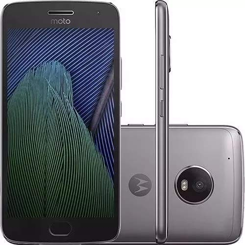 Moto G5 (5th Generation) - 32GB GSM Unlocked Android Smartphone (Lunar Gray) (Moto G4 Plus Android 7-1 2 Update)