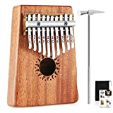 Donner 10 Key Kalimba Thumb Piano Solid Finger Piano Mahogany Body DKL-10