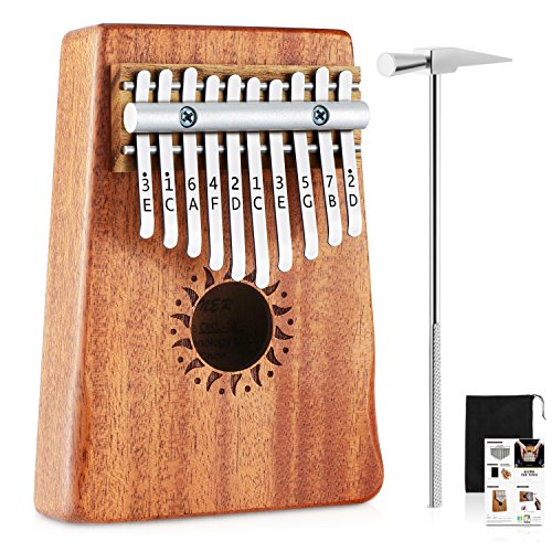Donner 10 Key Kalimba Thumb Piano Solid Finger Piano Mahogany Body DKL-10 by Donner (Image #7)