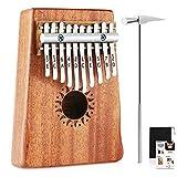 Donner 10 Key Kalimba Thumb Piano Solid Finger Piano Mahogany Body DKL-10