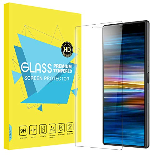 MoKo Compatible with Sony Xperia 10 Screen Protector, [Scratch Terminator] Bubble-Free Ultra Clear 9H Hardness Tempered Glass Film for Sony Xperia 10 Screen Protector 6 inch 2019 - Clear