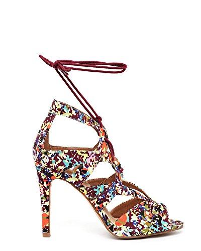 JEZZELLE - Sandalias de vestir para mujer Multicolor