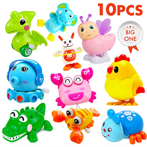 Wind Up Toys / Large Wind Up Toys Party Favors / Assorted Animals Toys / Wind Up Toys for Kids Toddlers / Clockwork Toy Set 10 PCS by YINAN Toy