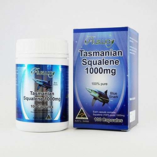 Ausway Tasmanian Squalene 1000mg 100 Capsules From Australia - Shark Squalene Liver Oil