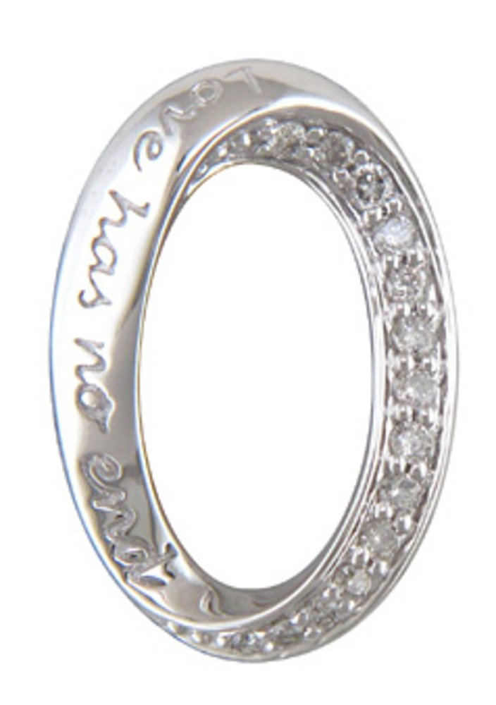 JMS Jewelry 10K White Gold Love Has No End Pendant Diamond With 18'' Chain