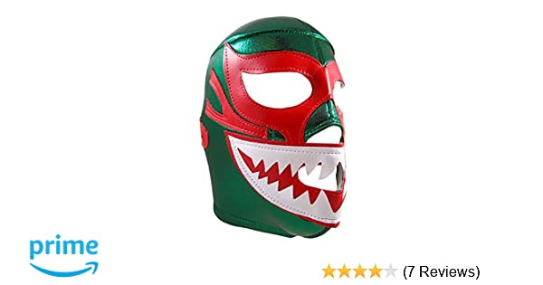 Amazon.com: MIL MASCARAS SHARK Adult Lucha Libre Wrestling Mask (pro-fit) Costume Wear - Green: Clothing