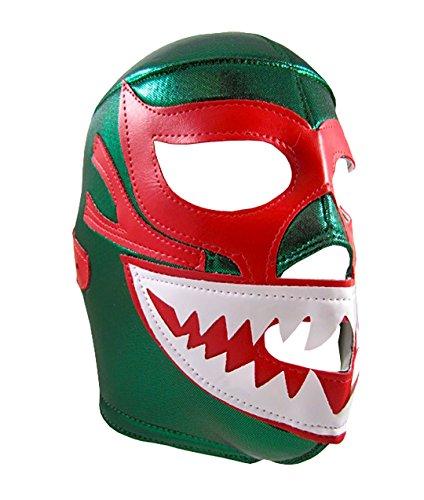 MIL MASCARAS SHARK Adult Lucha Libre Wrestling Mask (pro-fit) Costume Wear - Green -
