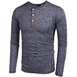 Coofandy Men's Casual Slim Fit American Flag Henley Shirts Cool Fashion T-Shirts (XX-Large, Blue1)