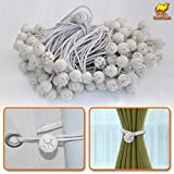 """STRONG CAMEL Ball Bungees Cord Tarp Party Tent Tie Downs Bungee Canopy Gazebo Straps -6""""-WHITE(100PCS)"""