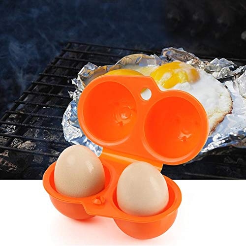 Yichener 1Pc Plastic Portable Kitchen 2 Egg CaseStorage Box Organizer Food Container Hiking Outdoor Camping Carrier for 2 Egg Box Tool