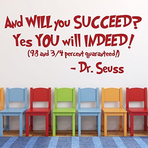 Succeed Pencils - Dr Seuss Quotes Wall Decal Vinyl Decor