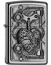 Zippo PL STEAM Punk Heart zapalniczka z mosiądzu, wygląd stali szlachetnej, 1 x 3,5 x 5,5 cm
