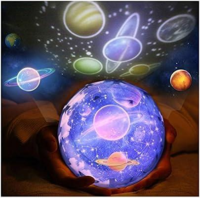 TTD Lámpara de proyección de luz de noche de universo, romántica ...